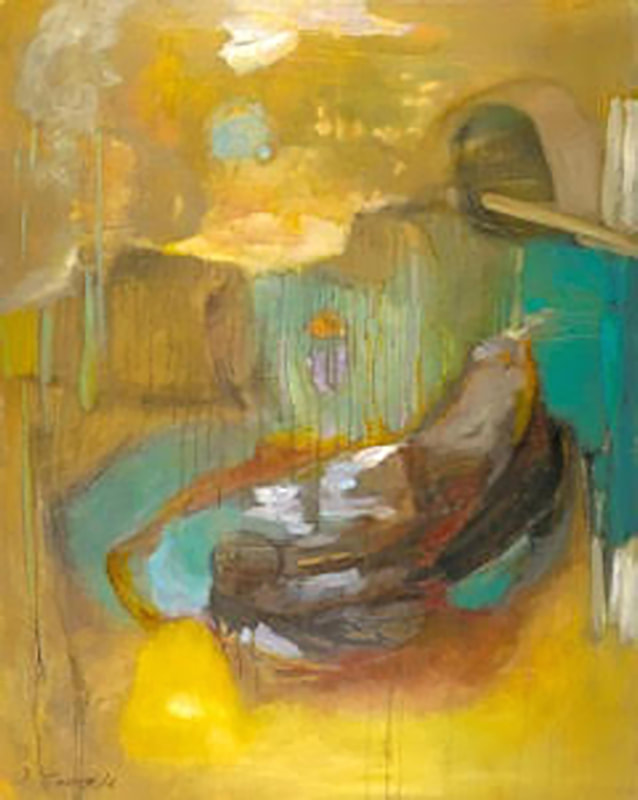 Venezia, Anne Leveque Abstract Oil